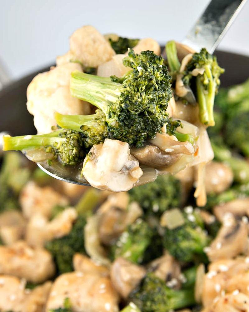 Broccoli Chicken And Mushroom Stir Fry  Fitness Food Diva-9081