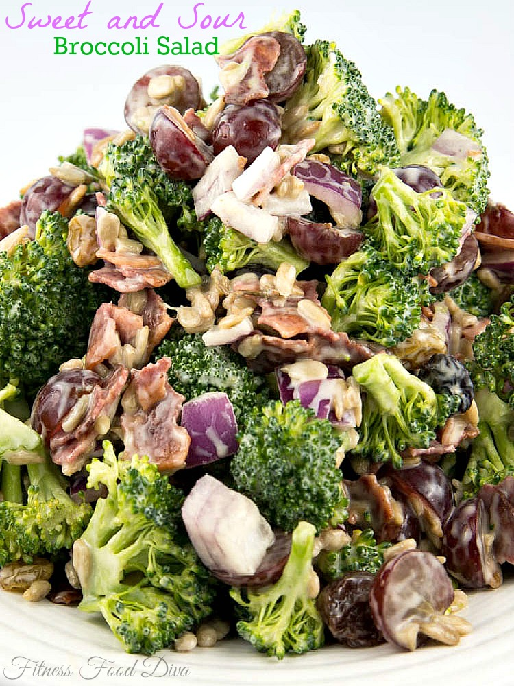... Sweet and Sour Broccoli Salad is a lip licking, tastebud approved, can