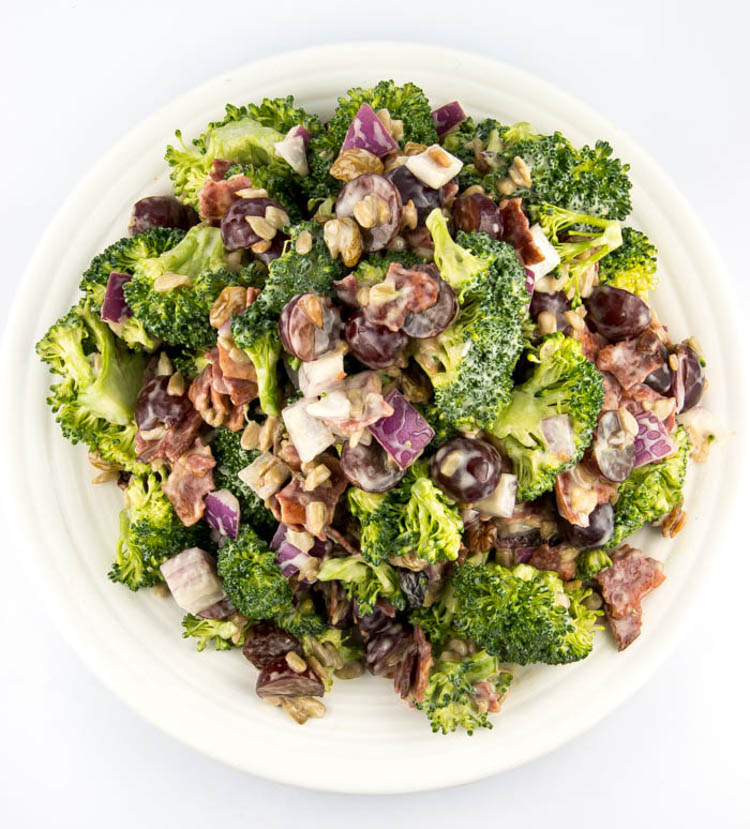 Sweet and Sour Broccoli Salad | Fitness Food Diva