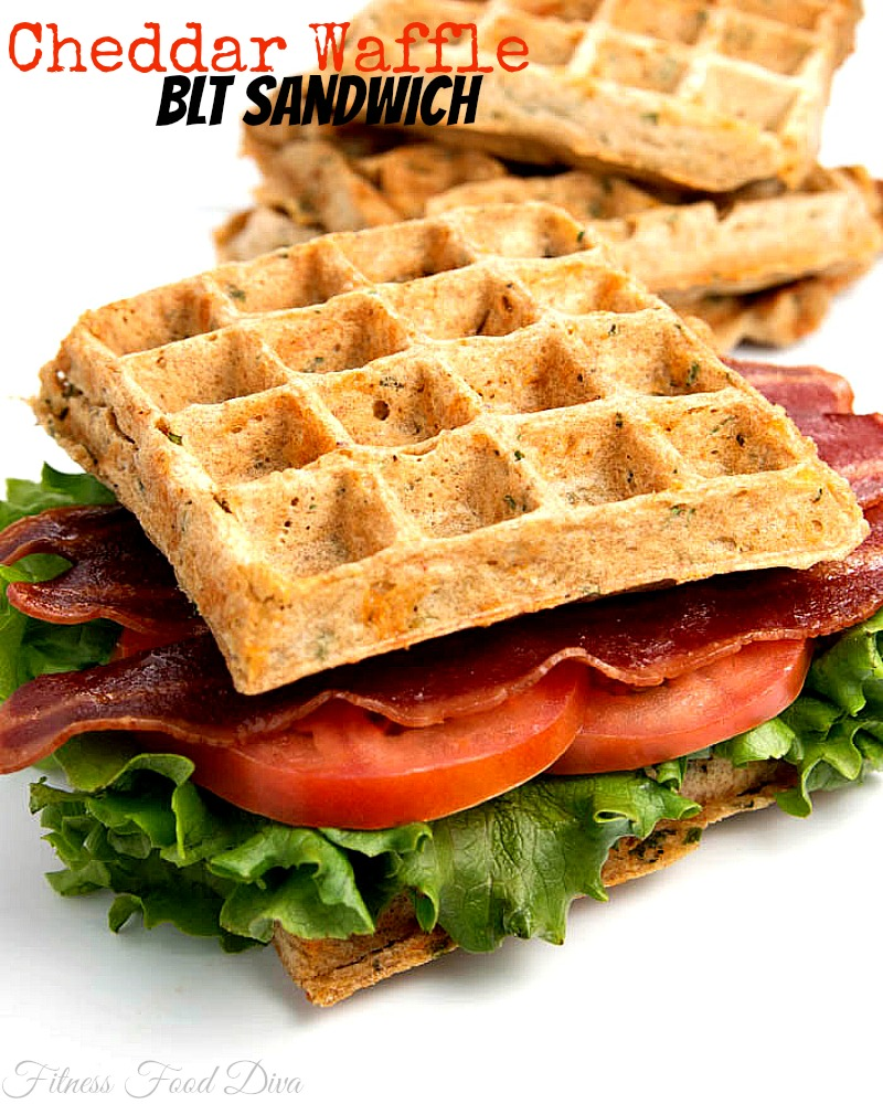 waffles for a cheese and herb waffle toasts for the sandwiches so we ...