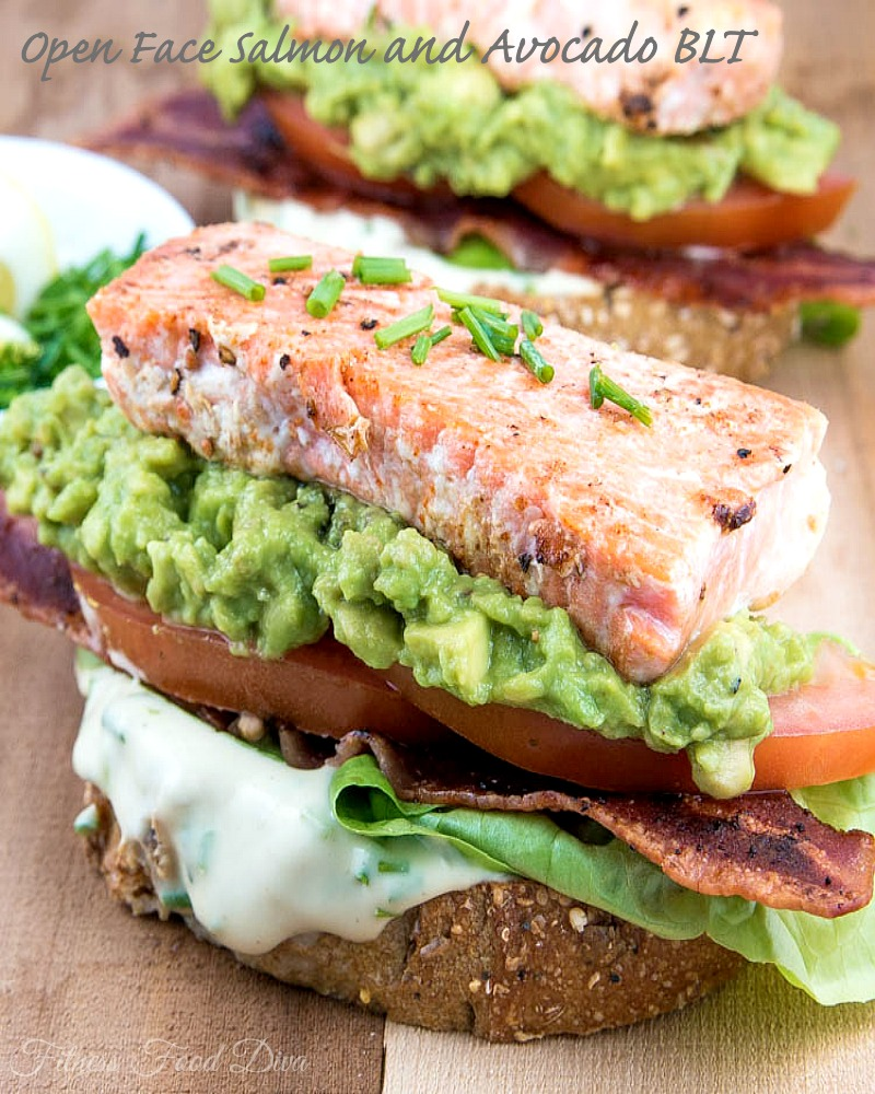Open-Face Smoked Salmon And Avocado Sandwiches Recipe — Dishmaps