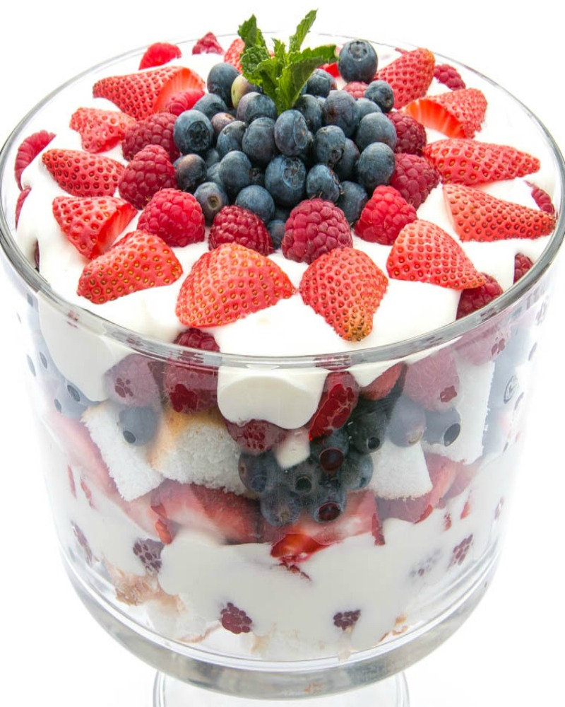 Triple Berry Trifle | Fitness Food Diva