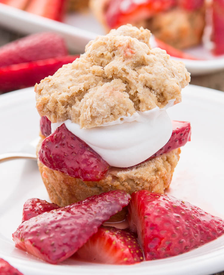 Muffin-Tin Strawberry Shortcake | Fitness Food Diva