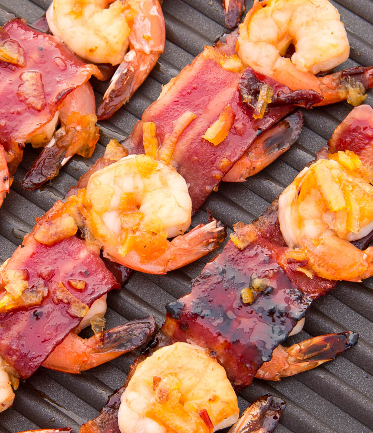 Bacon-Wrapped Shrimp Kabobs with Orange-Chipotle Sauce | Fitness Food ...