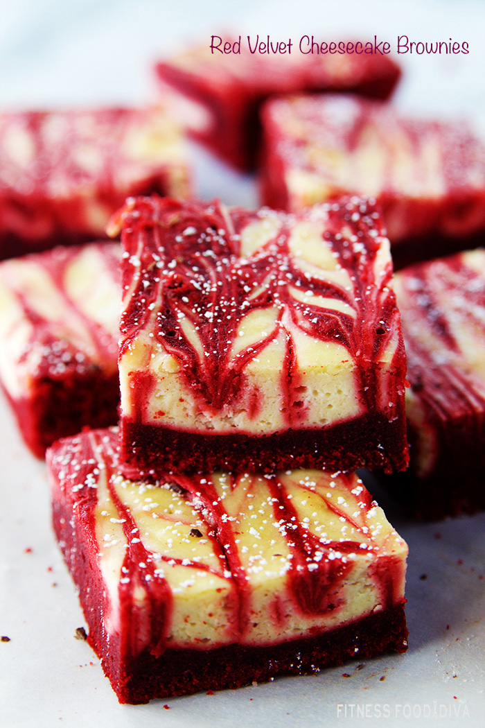 Red Velvet Cheesecake Brownies Fitness Food Diva