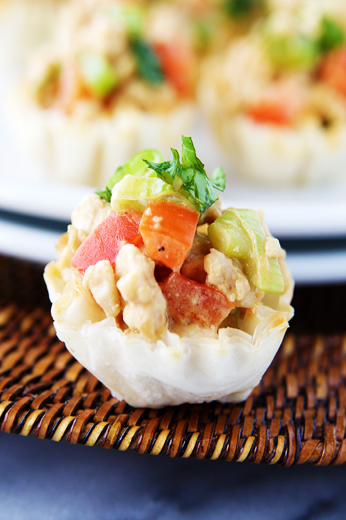 Chicken Mini Phyllo Cups Fitness Food Diva