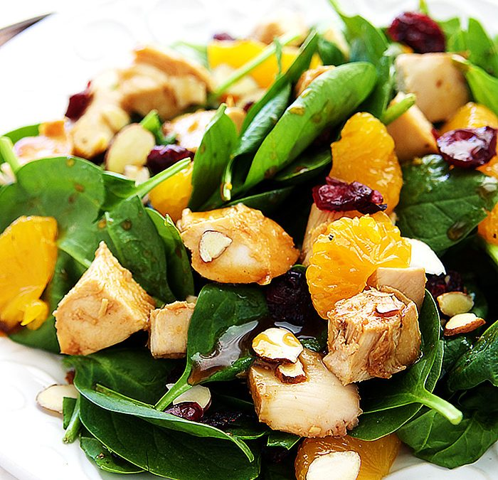 Spinach Teriyaki Chicken Salad