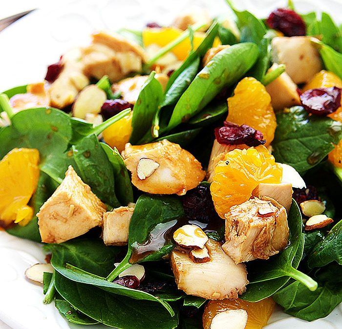 Spinach Teriyaki Chicken Salad