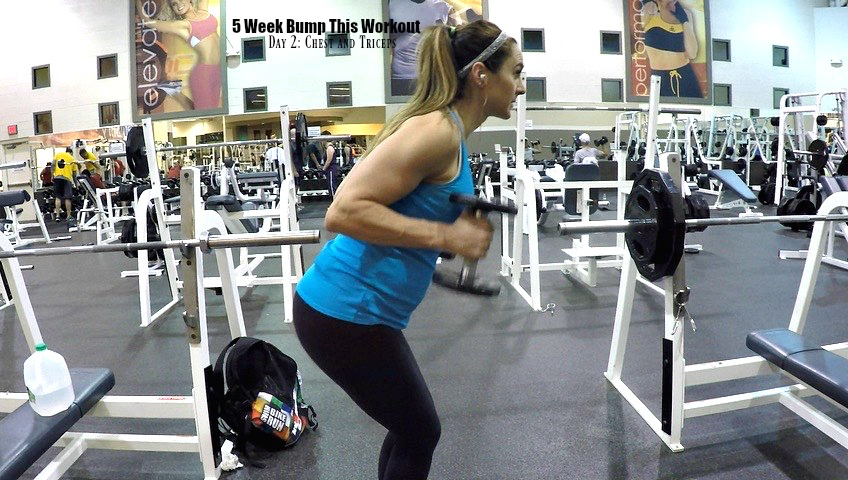 5 Week Bump This Workout Day 2: Chest and Triceps