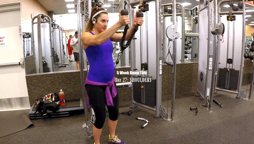 5 WEEK BUMP THIS WORKOUT: DAY 27 SHOULDERS