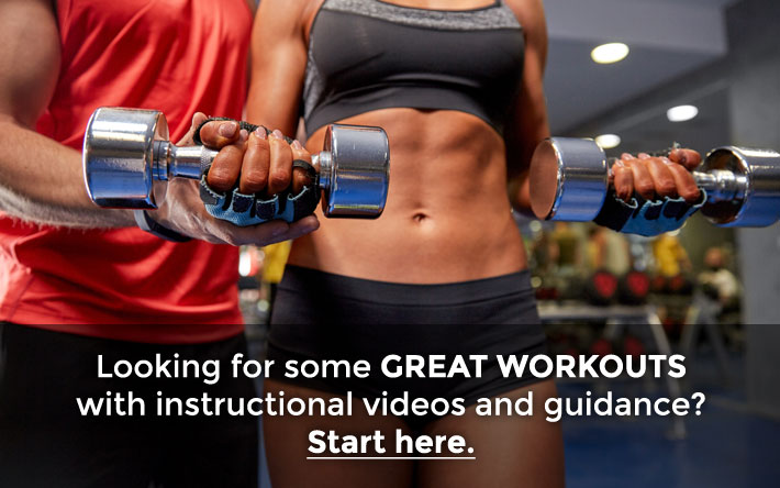 Dumbbells weights workout gym fitness woman man
