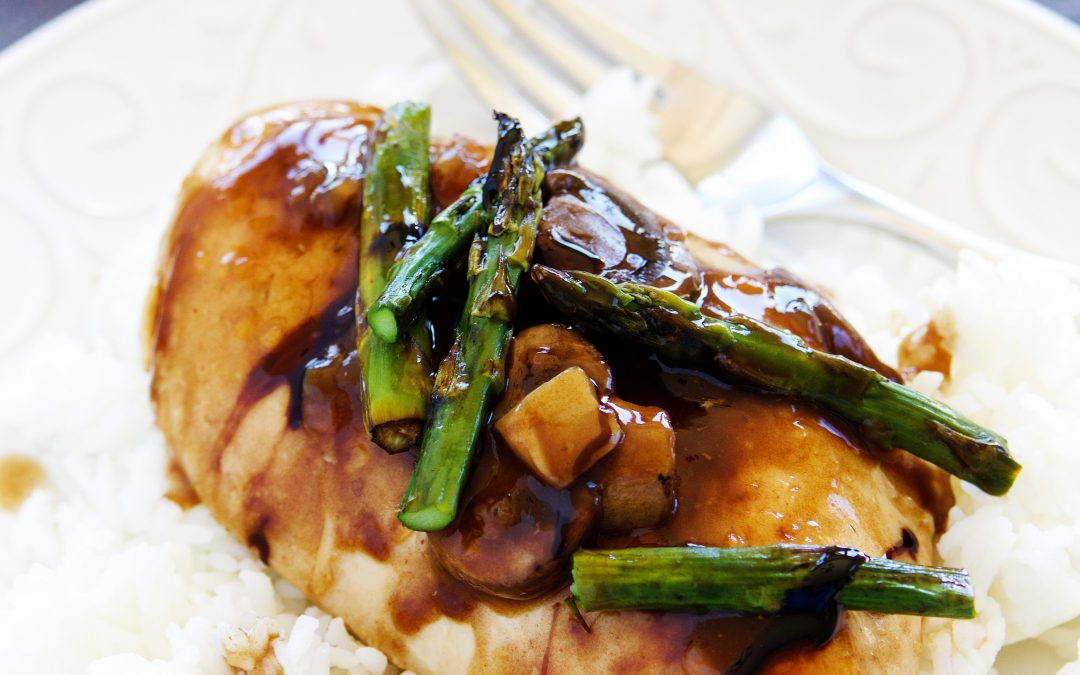 Balsamic Chicken with Mushrooms and Asparagus