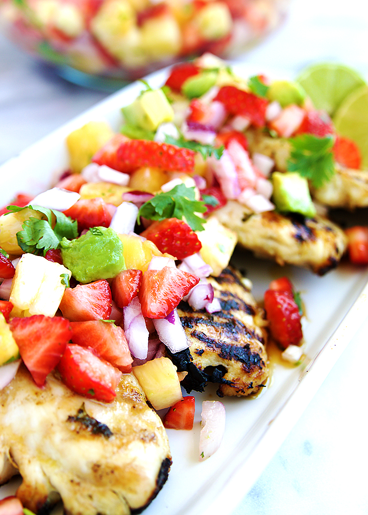 Grilled Honey Lime Chicken With Pineapple Salsa - Fitness ...